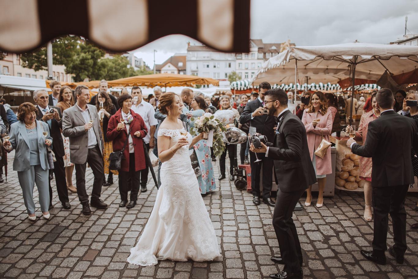 Hochzeitsreportage Mannheim Marktplatz