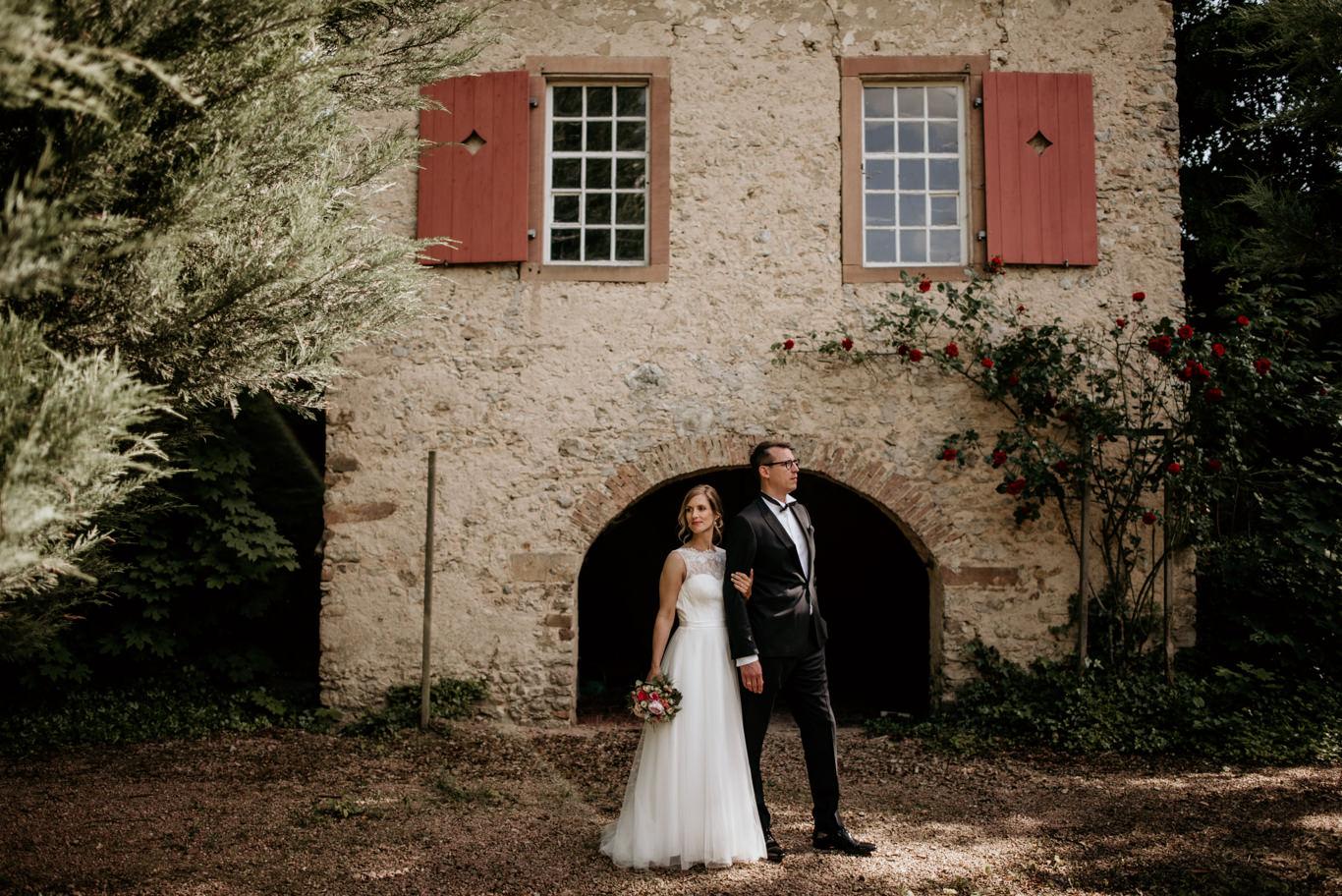 Hochzeitsfotograf Mannheim Schlossgut Lüll Wachenheim Hochzeit Fotograf freie Trauung Brautpaarshooting